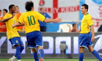 Nilmar brilha, Brasil bate Inglaterra e amplia tabu de Dunga