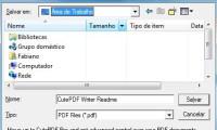 CutePDF cria arquivo PDF com um clique