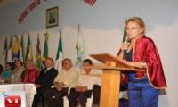 Vereadora assume cadeira na Academia de Letras da Confederação Valenciana.