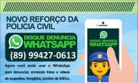 Policia Civil de Valença divulga novo canal de comunicação