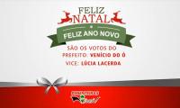 Prefeito e vice-prefeita de Pimenteiras desejam Feliz Natal