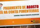 Prefeitura de Pimenteiras pagou nessa terça-feira a folha de agosto