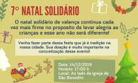 7º Natal Solidário de Valença será dia 14 de dezembro