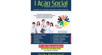 1ª Ação Social Bem Viver será realizada dia 21/12 em Valença