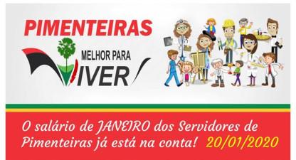Prefeitura de Pimenteiras paga janeiro e assina vários convênios