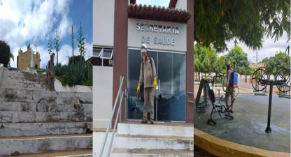 Trabalho de higienização de prédios e praças é realizado em Francinópolis
