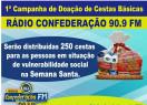 Rádio Confederação lança campanha de arrecadação de alimentos