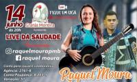 Cantora Raquel Moura prepara live para o dia 14 de junho