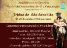 Tríduo em louvor a São Benedito começa hoje em Valença