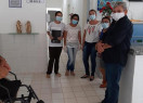 Vice-prefeito eleito, Rubens Alencar visita Secretaria de Saúde
