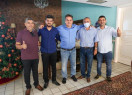 Prefeito eleito de Lagoa do Sitio, Sávio Moura se reúne com senador Ciro