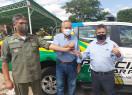 Policia Militar de Lagoa do Sitio recebe viatura L200 Triton 0 km
