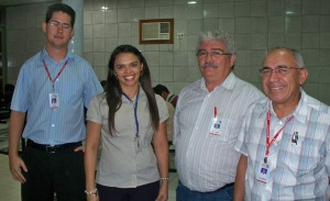 Flavio, Diana, Paulo Regis e Francisco Borges.