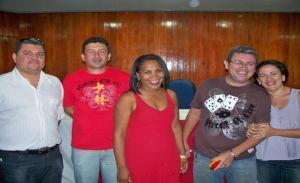 Os petistas Fábio Adriano, Wallyson Soares, Chiquinha do PT, Geovane Vieira e Geane Vieira.