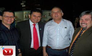 Dr. Afonso Sobreira, prefeito China, Dr. Francisco José e Rubens Alencar