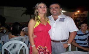 Secretário de saúde Walfredo Filho e sua esposa Jane.