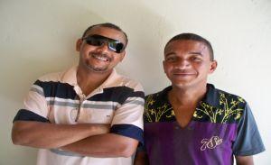 Ibernon e o seu irmão Dedé Nunes.