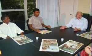 Luciano Carlos foi recebido pelo secretário de educação Antônio José