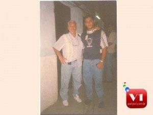 narrador esportivo Silvio Luiz e o radialista Sergio Alves