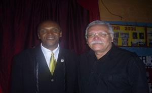 Lindomar Amâncio e o secretário estadual de educação e pré-candidato a governador Antônio José Medeiros.