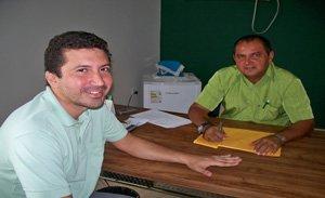 Wallyson Soares e o presidente Gilmar Barbosa
