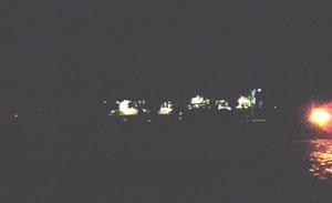 a escuridão atingiu até a rua da prefeitura.