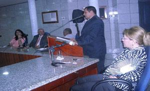 presidente da Câmara de Vereadores Gilmar Barbosa