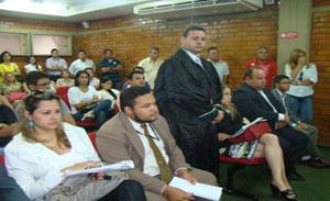 Os família da vítima compareceram ao tribunal