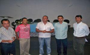 Adala Carnib, Gilberto Barbosa, Indelson Melão, Gracielio Pimentel e Sávio Normando