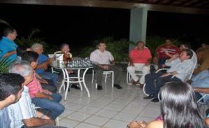 Senador JVC participou de uma reunião do PRTB em Dom Expedito Lopes