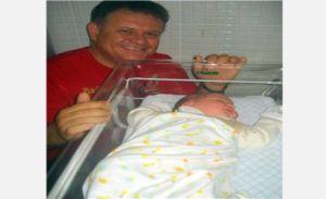 Toda a felicidade do advogado Dr. Mauro Rubens com a chegada do herdeiro