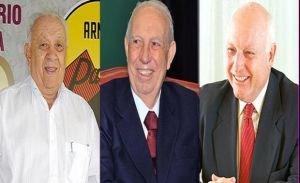 João Claudino Fernandes, José Alencar e Jorge Gerdau Johannpeter
