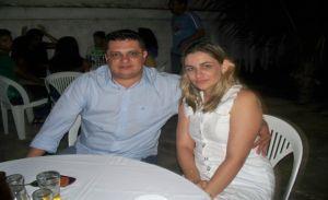 Empresário Vinício do Ó e sua esposa.