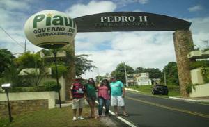 Entrada da cidade de Pedro II
