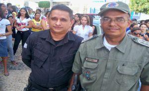 Vicente Carlos comandante do 4ª BPM e Antônio Santos Comandante da 2ª CIA