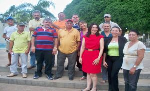 candidata a deputada estadual Margarete Coelho durante visita a Valença