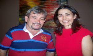 Rubens Alencar e Margarete Coelho candidata a deputada estadual