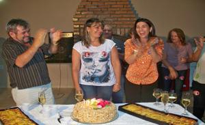 Liduina Alencar entre o esposo Rubens Alencar e advogada Margarete Coelho