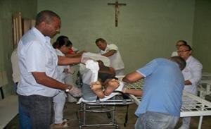 os corpos foram trazidos para o hospital regional