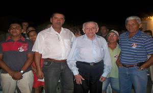 Os presidentes Elias Prado e Coronel Torres durante a reunião