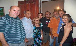 Antenor Inácio entre amigos e familiares