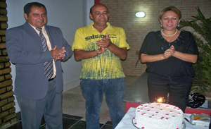 Gilmar Barbosa, Stenio Rommel e a vereadora Ielva Melão