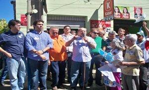 Silvio Mendes durante sua visita a Valença.