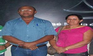 Chicão e sua esposa Maria do Socorro