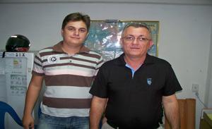 Rômulo Moura e o seu pai Rafael comandantes da Eletrofé