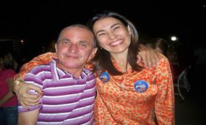 Candidata Margarete Coelho e sempre presentes Marquinhos