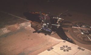 O acidente aconteceu na Rua Epaminondas Nogueira