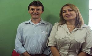 prefeita Ivete Lima e o vice-prefeito Walmir