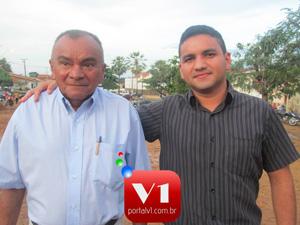 Vereador Wilton Nunes ao lado do pai EX-vereador Eliseu França