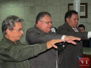Dr. Albino Coelho, Dr. Mauro Rubens e Dr. José Itamar